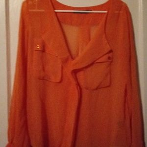 A Gorgeous orange blouse that very comfortable sty